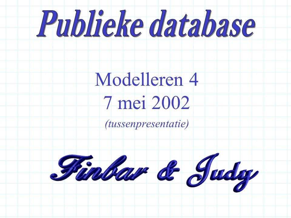 Modelleren 4 7 mei 2002 (tussenpresentatie)