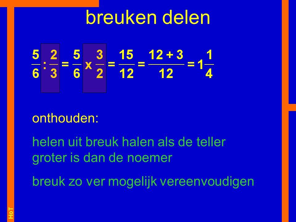 HoT breuken optellen onthouden: bij optellen altijd eerst gelijknamig maken het kleinste gemeenschappelijke veelvoud van 4 en 10 is 20