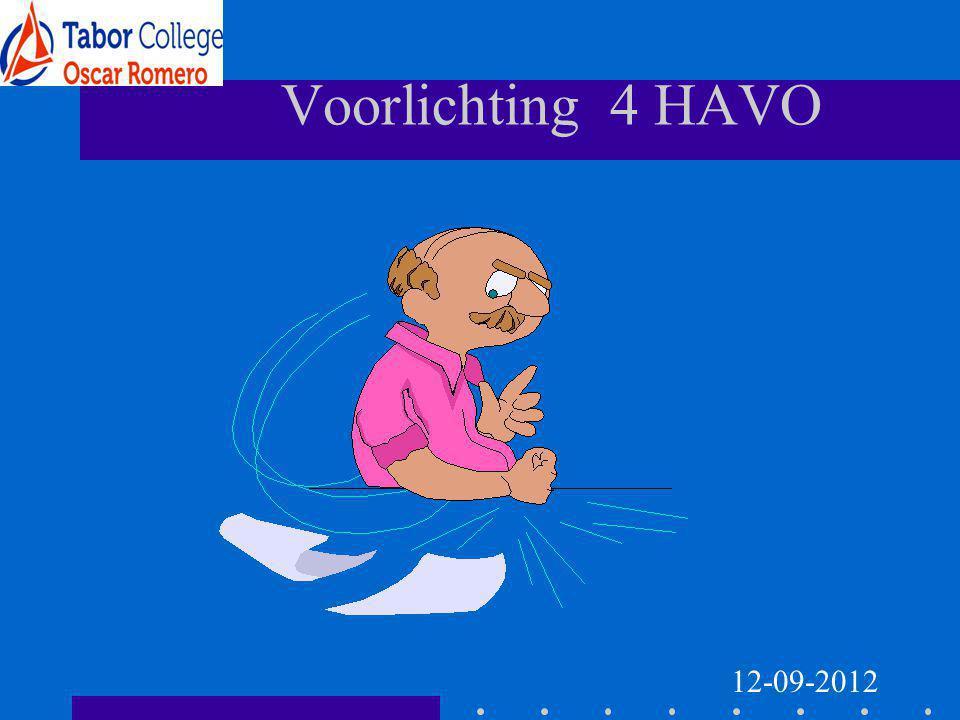 Voorlichting 4 HAVO 12-09-2012