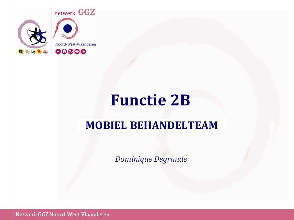 Netwerk GGZ Noord-West-Vlaanderen Functie 2B MOBIEL BEHANDELTEAM Dominique Degrande