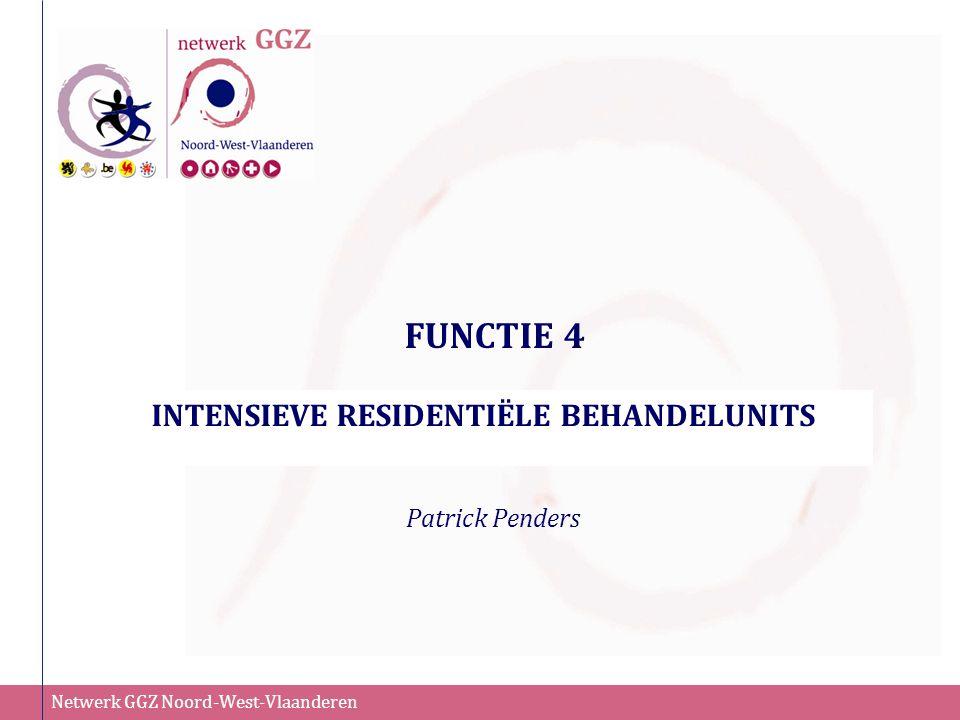Netwerk GGZ Noord-West-Vlaanderen FUNCTIE 4 INTENSIEVE RESIDENTIËLE BEHANDELUNITS Patrick Penders