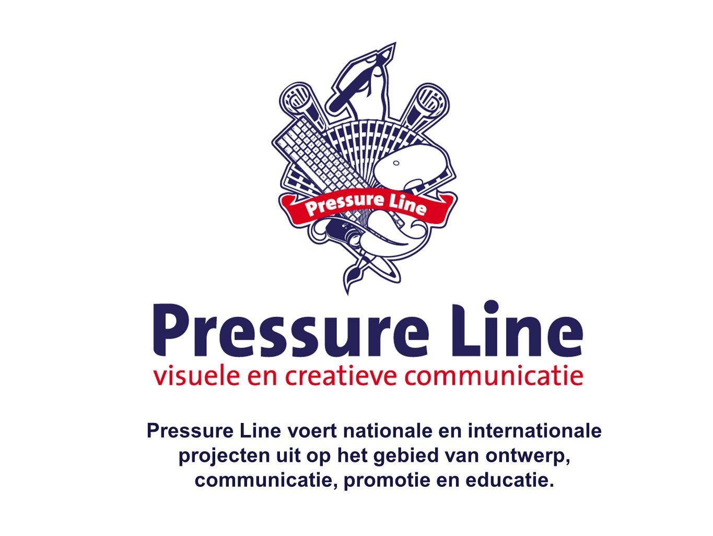 Pressure Line voert nationale en internationale projecten uit op het gebied van ontwerp, communicatie, promotie en educatie.