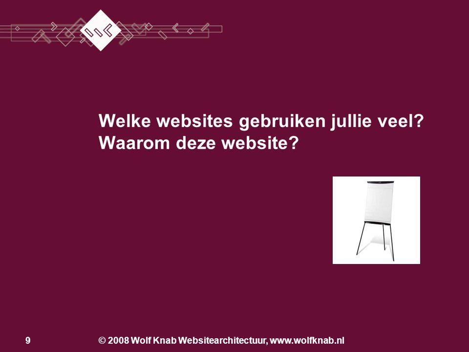 9 Welke websites gebruiken jullie veel? Waarom deze website?