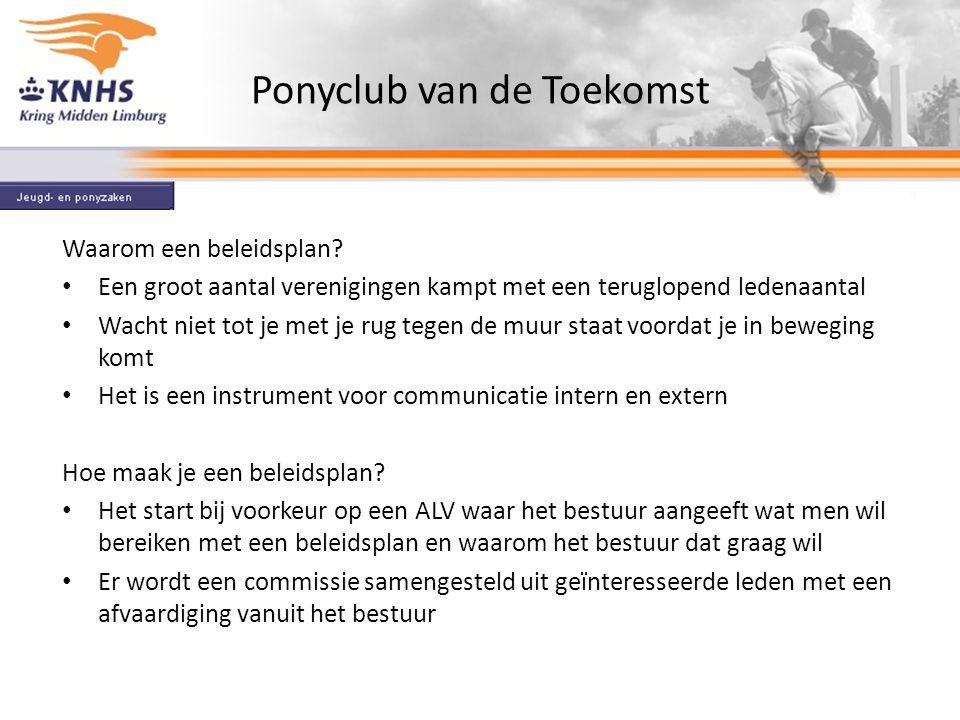 Ponyclub van de Toekomst Waarom een beleidsplan.