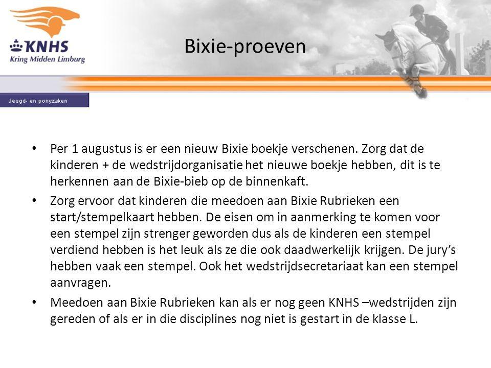 Bixie-proeven Per 1 augustus is er een nieuw Bixie boekje verschenen.