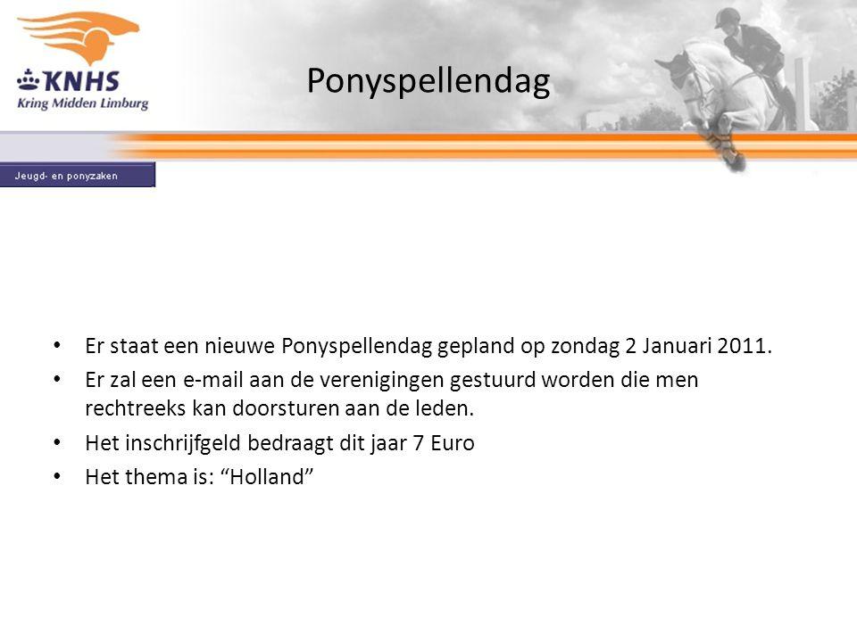 Ponyspellendag Er staat een nieuwe Ponyspellendag gepland op zondag 2 Januari 2011.