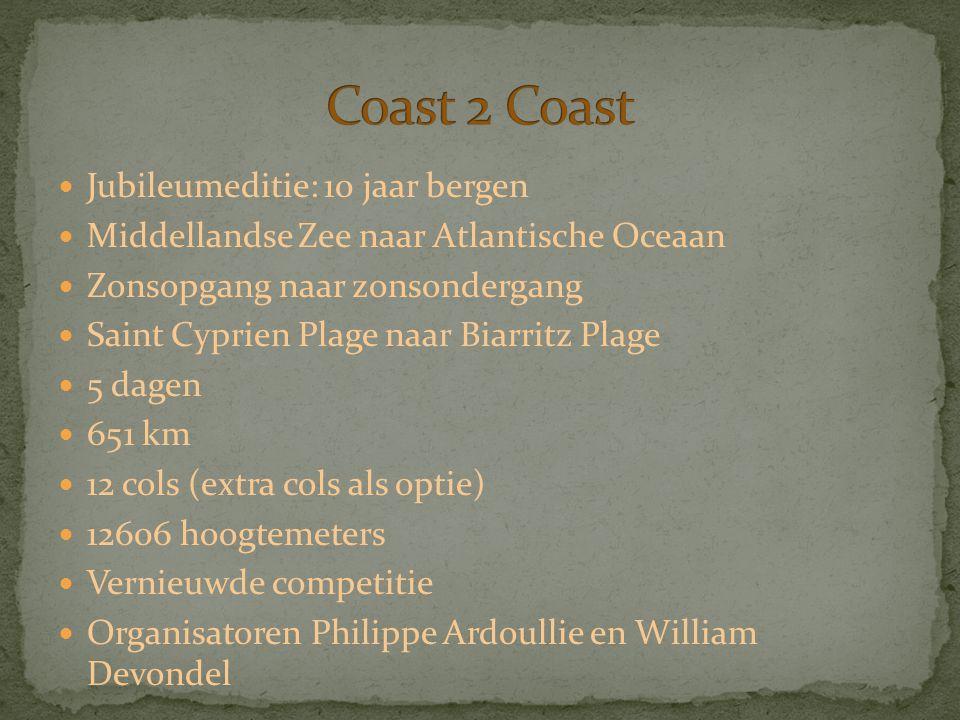 Jubileumeditie: 10 jaar bergen Middellandse Zee naar Atlantische Oceaan Zonsopgang naar zonsondergang Saint Cyprien Plage naar Biarritz Plage 5 dagen