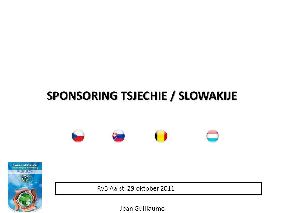 RvB Aalst 29 oktober 2011 SPONSORING TSJECHIE / SLOWAKIJE Jean Guillaume