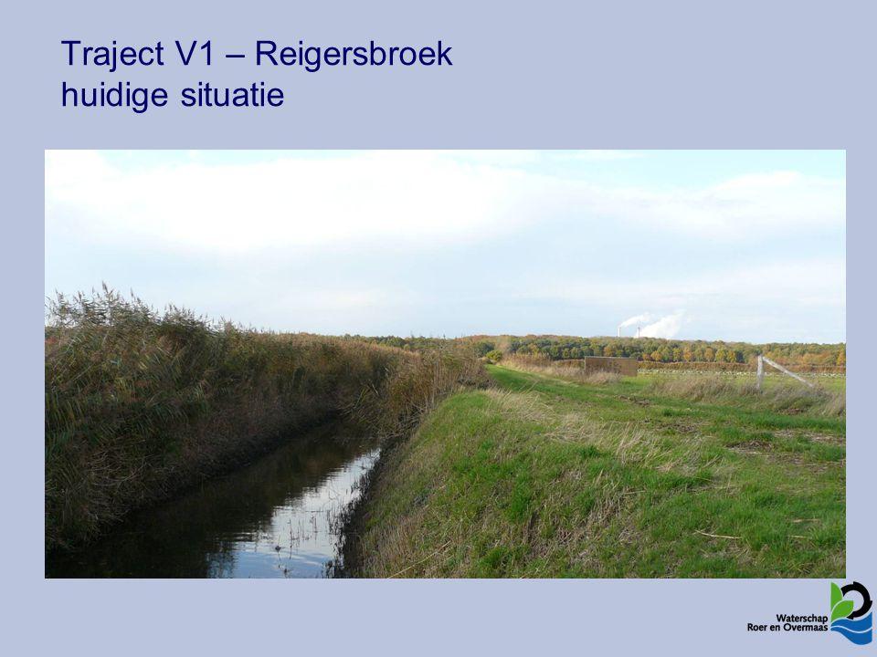 Traject V1 – Reigersbroek huidige situatie