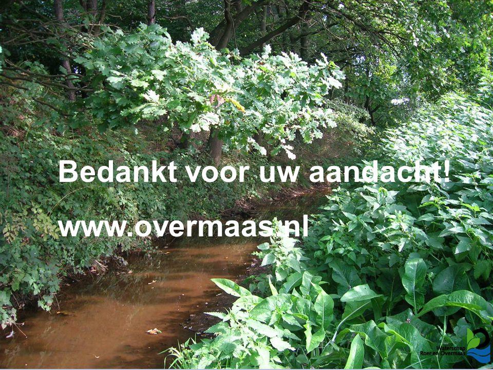 Bedankt voor uw aandacht! www.overmaas.nl