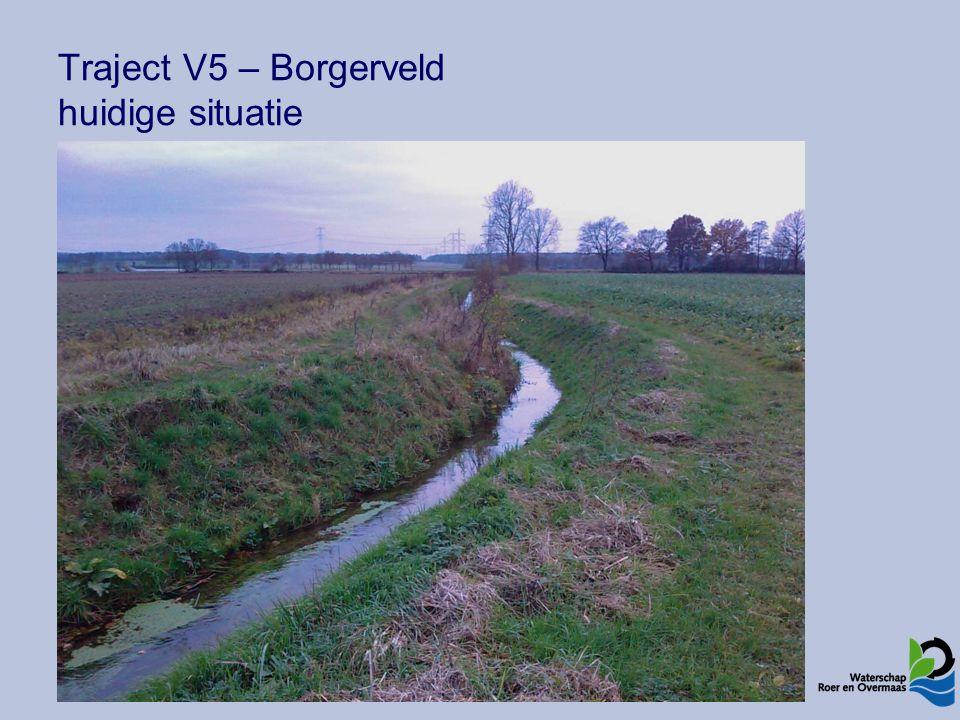 Traject V1 – Reigersbroek Maatregelen Open, nat schraalgrasland en rietland Beek integreren in moerasgebied Bodem verhogen, stuw verplaatsen Extensief onderhoud (boomopslag uitgezonderd)