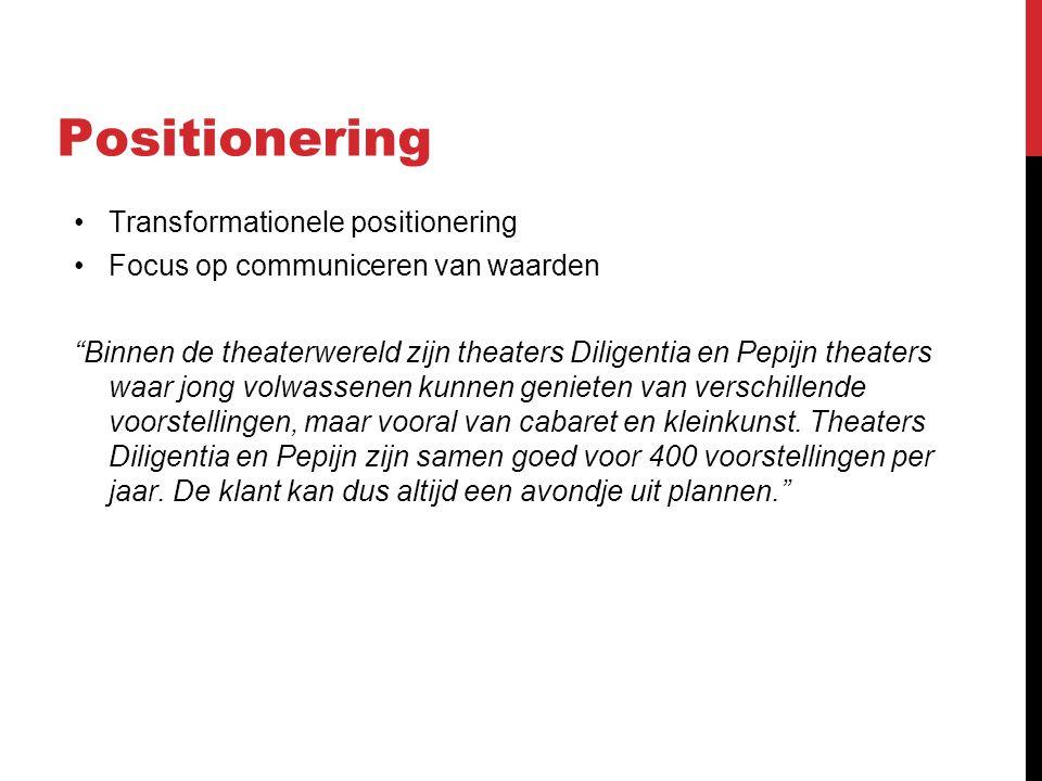 Propositie Belangrijke Kenmerken Theater Dilligentia en Pepijn: Hartje Den Haag.