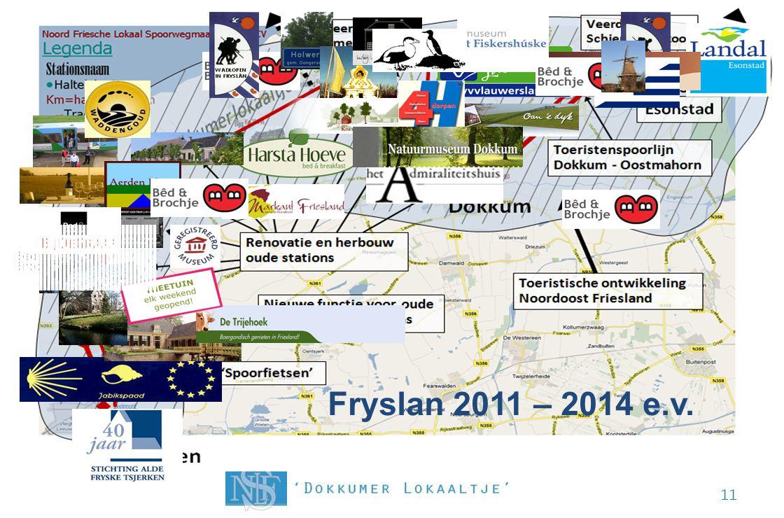 De Noord Friesche kaart opnieuw getekend! 11 Fryslan 2011 – 2014 e.v. Ternaard