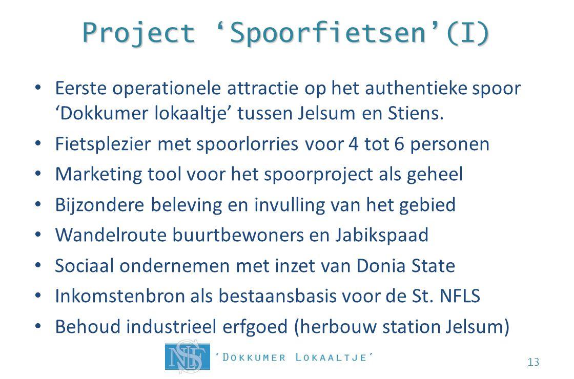 Project 'Spoorfietsen'(I) Eerste operationele attractie op het authentieke spoor 'Dokkumer lokaaltje' tussen Jelsum en Stiens. Fietsplezier met spoorl