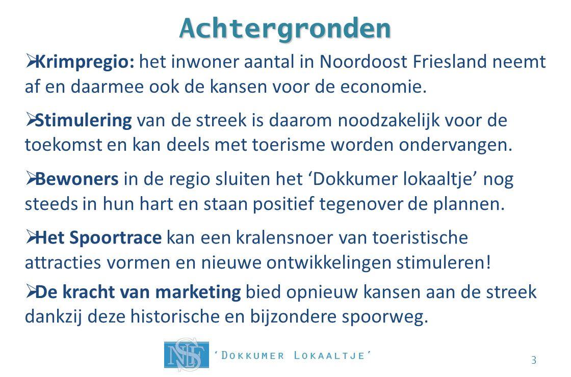 Achtergronden 3  Krimpregio: het inwoner aantal in Noordoost Friesland neemt af en daarmee ook de kansen voor de economie.  Stimulering van de stree