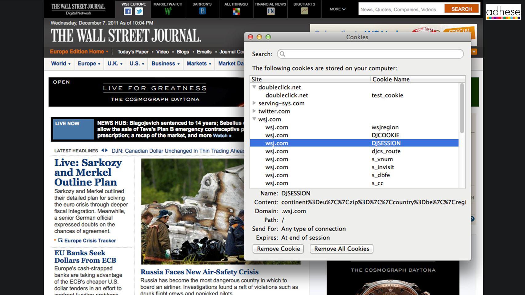 data die door browser en server uitgewisseld wordt gekoppeld aan domain heeft vervaldatum