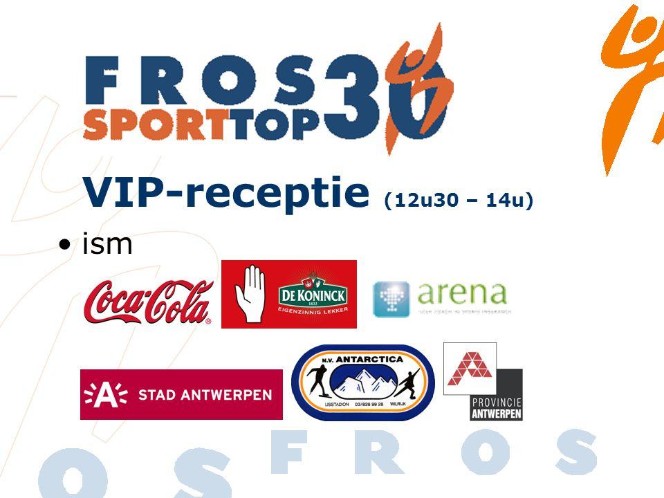 ism VIP-receptie (12u30 – 14u)