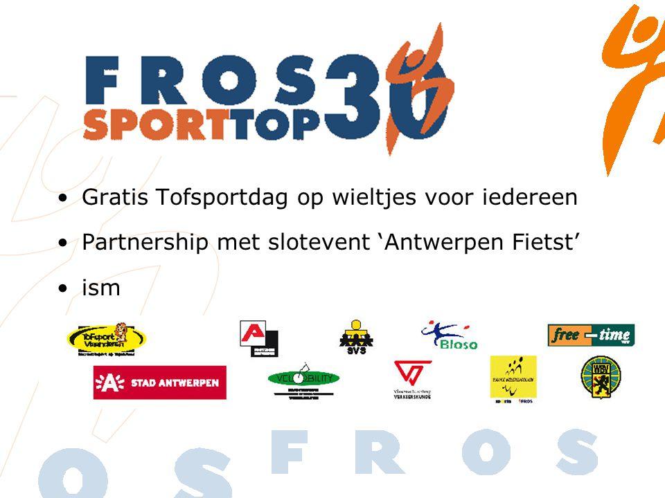 Gratis Tofsportdag op wieltjes voor iedereen Partnership met slotevent 'Antwerpen Fietst' ism