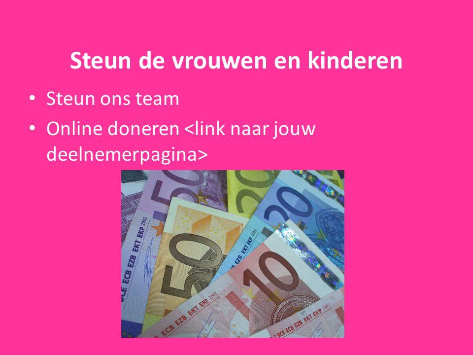 Steun de vrouwen en kinderen Steun ons team Online doneren