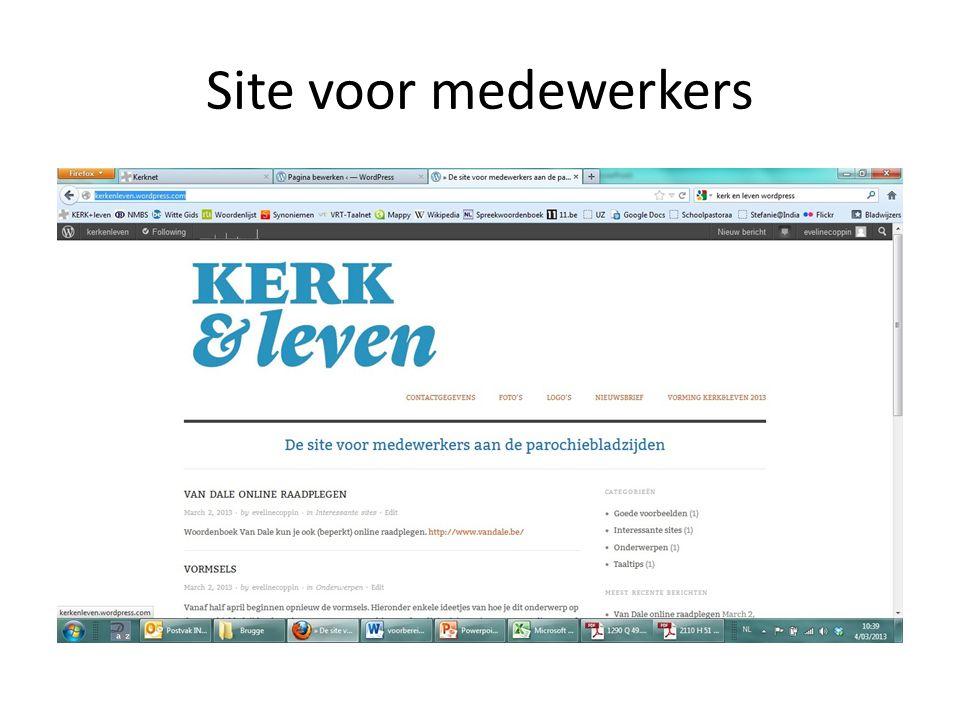 Site voor medewerkers