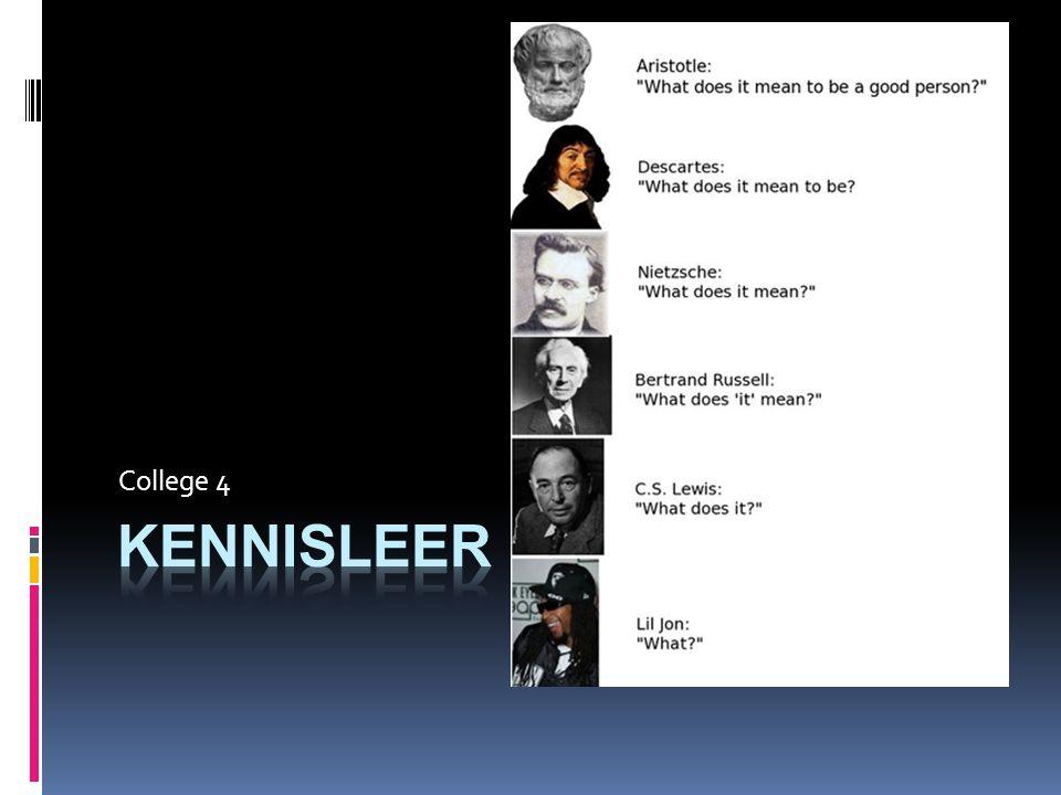 Kant  Verzoening empirisme – rationalisme  Kennis begint bij waarneming, is subjectief  Structuren ordenen de waarneming en het denken