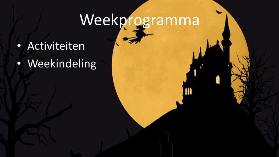 Weekprogramma Activiteiten Weekindeling