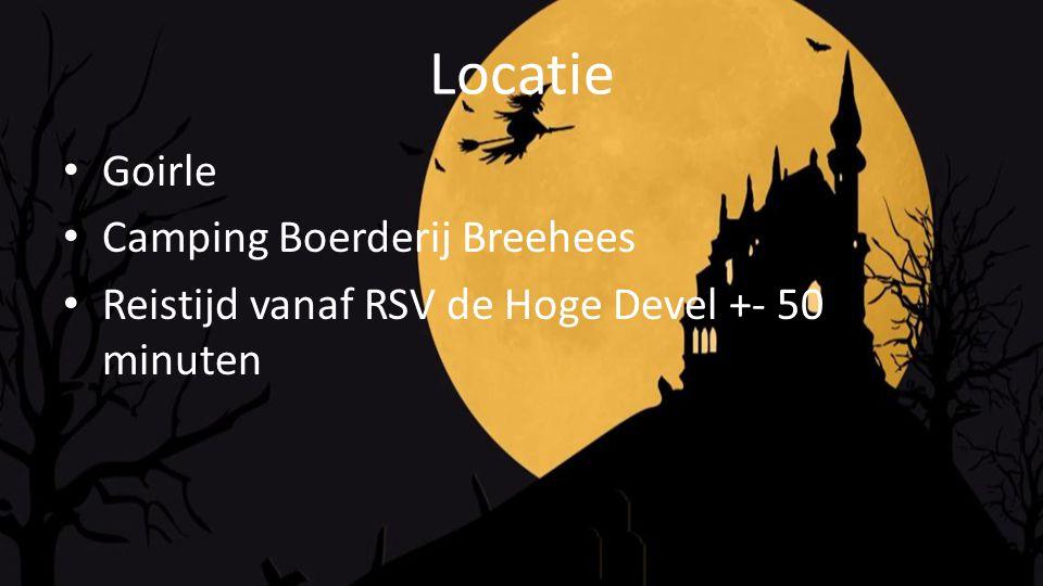 Locatie Goirle Camping Boerderij Breehees Reistijd vanaf RSV de Hoge Devel +- 50 minuten