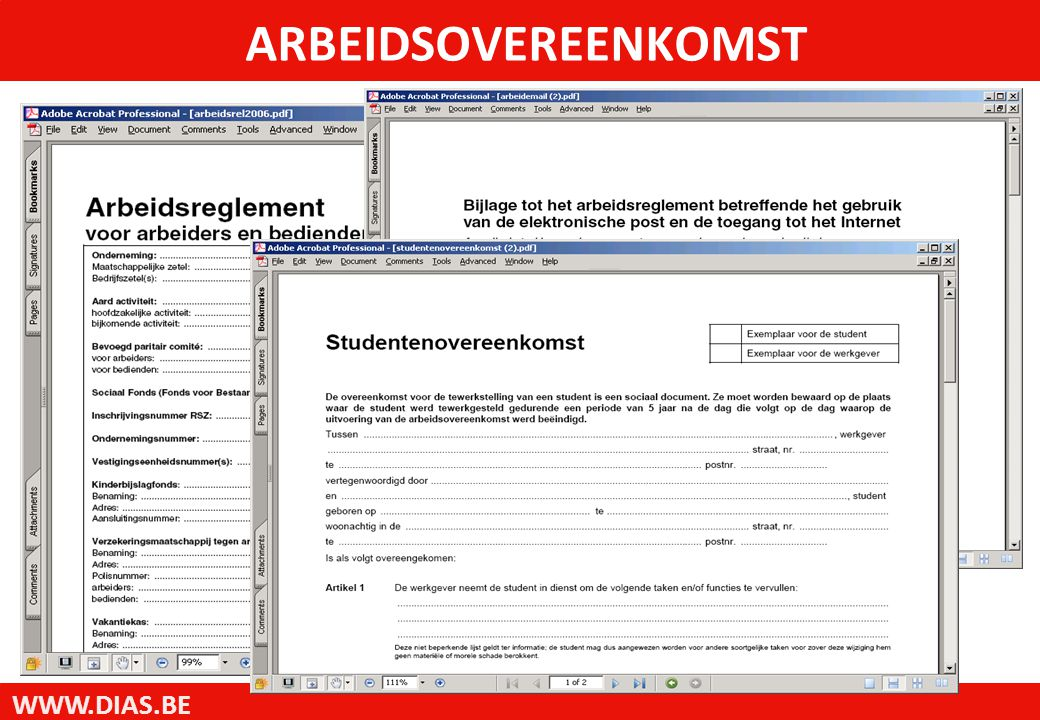 WWW.DIAS.BE ARBEIDSOVEREENKOMST