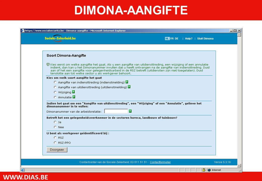 WWW.DIAS.BE DIMONA-AANGIFTE