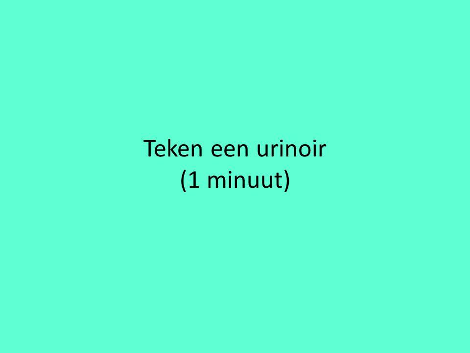 Teken een urinoir (1 minuut)