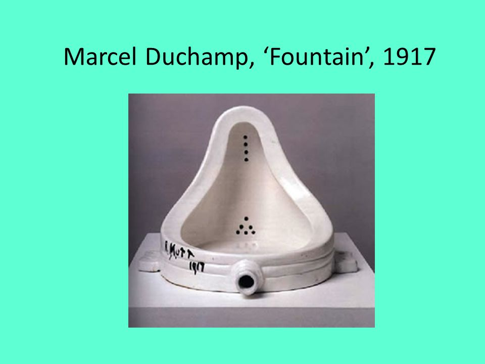 Marcel Duchamp, 'Fountain', 1917