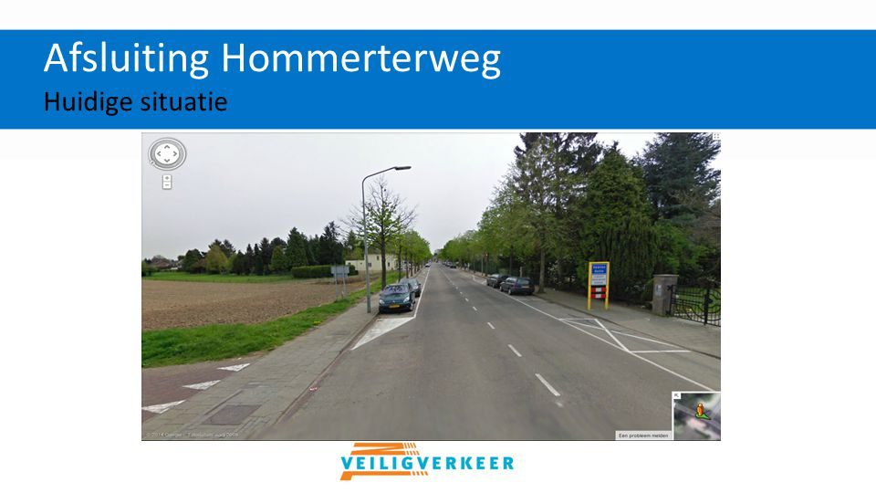Afsluiting Hommerterweg Toekomstige situatie