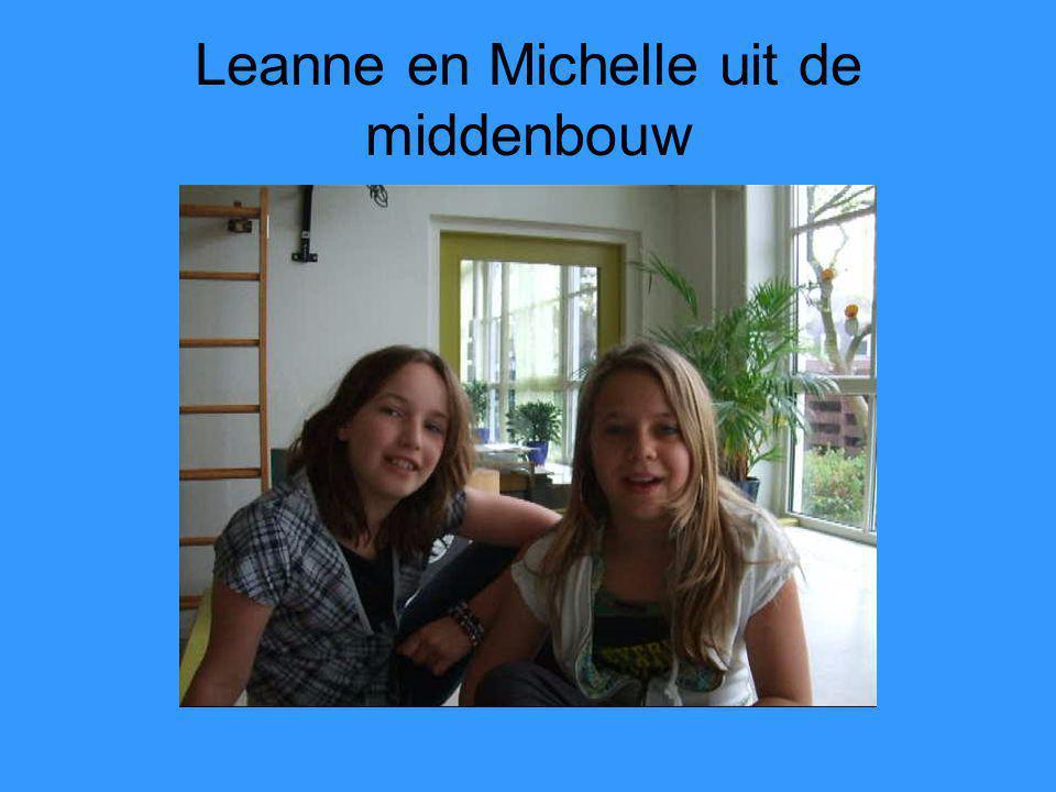 Leanne en Michelle uit de middenbouw