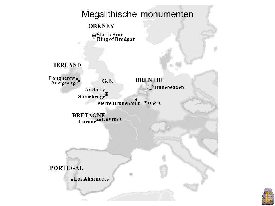 Europa B Newgrange Loughcrew Avebury Stonehenge Carnac BRETAGNE Wéris Los Almendres Hunebedden Gavrinis Pierre Brunehault Megalithische monumenten Ska