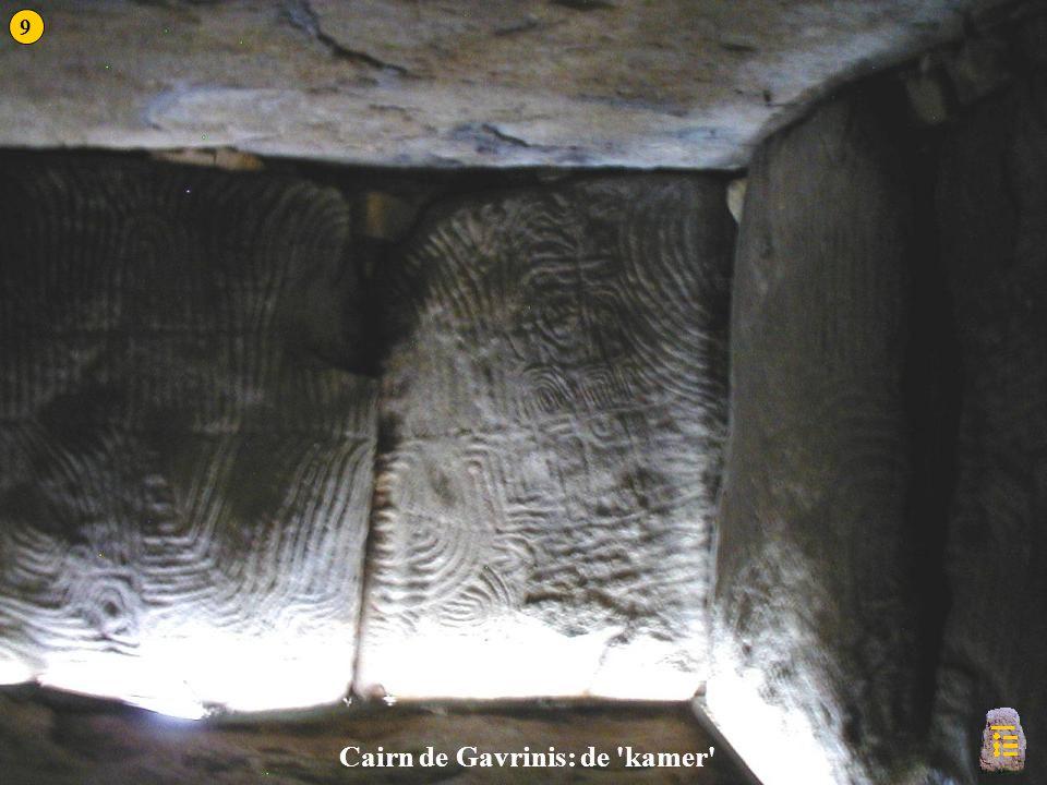 Gavrinis 3a Cairn de Gavrinis: de 'kamer' 9