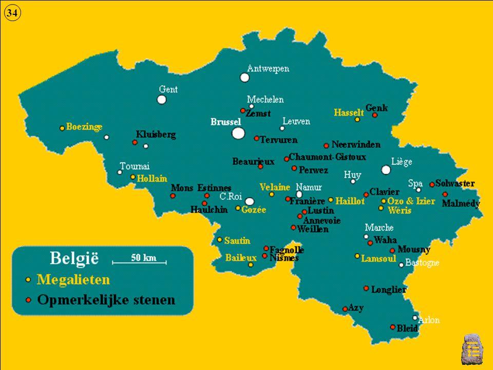 Kaart België 34
