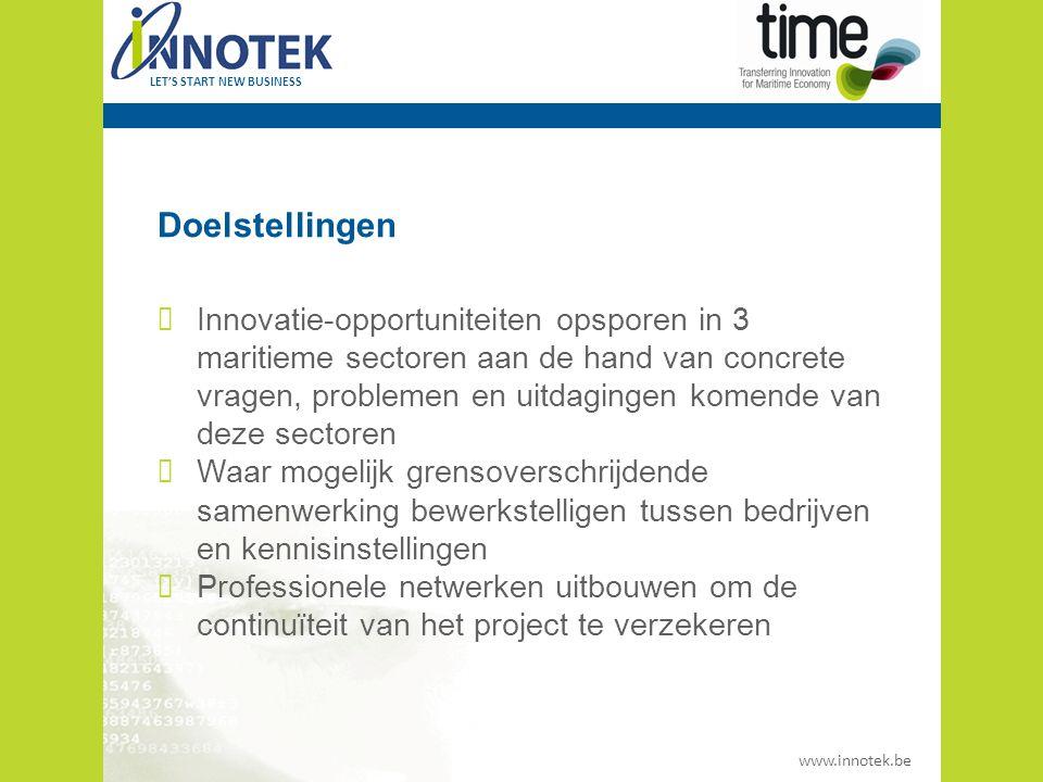 www.innotek.be LET'S START NEW BUSINESS Partners Aditec Pas de Calais (Béthune) Marine South East (Southampton) Innotek (Flanders)