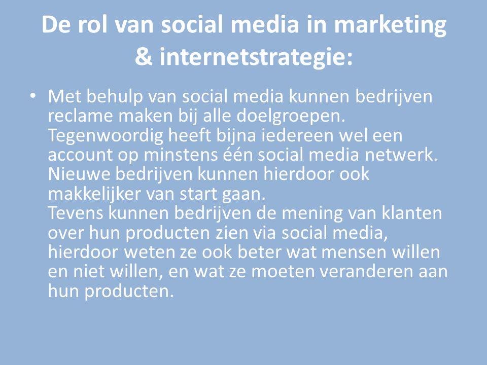 De sterke kanten van social media: Via social media kan je relaties onderhouden en nieuwe relaties aangaan.