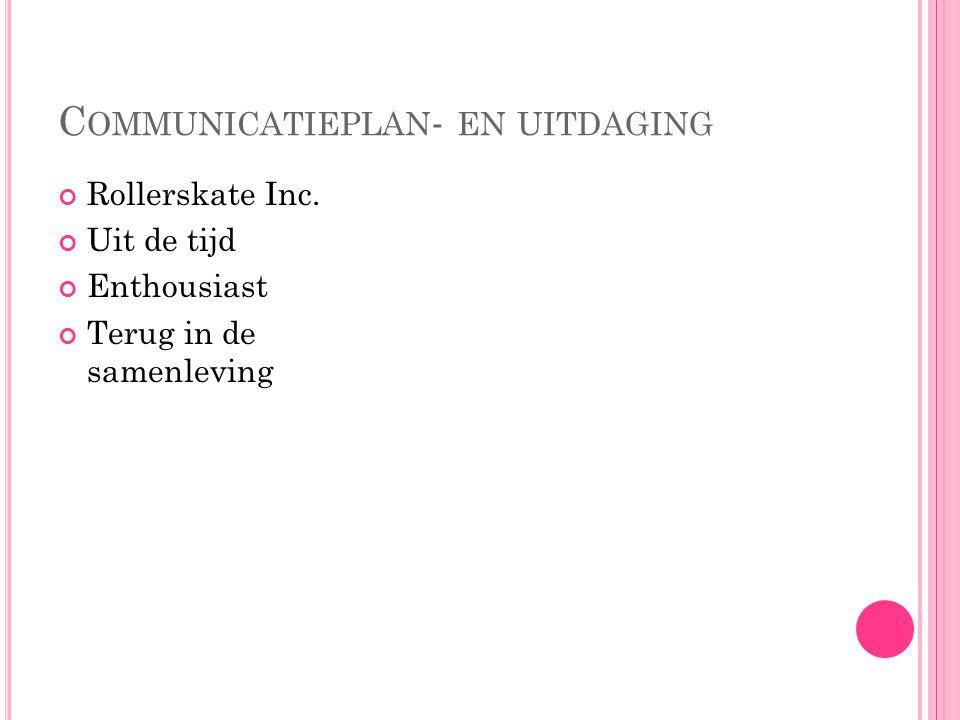 DOELGROEP 18-40 jaar Omgeving Leiden Leeftijd 18  nieuwe generatie Leeftijd 40  verleden Enquête Evenementen Rolschaatsen & rolschaatsdisco's Uitdelen van folders Reclame via internet