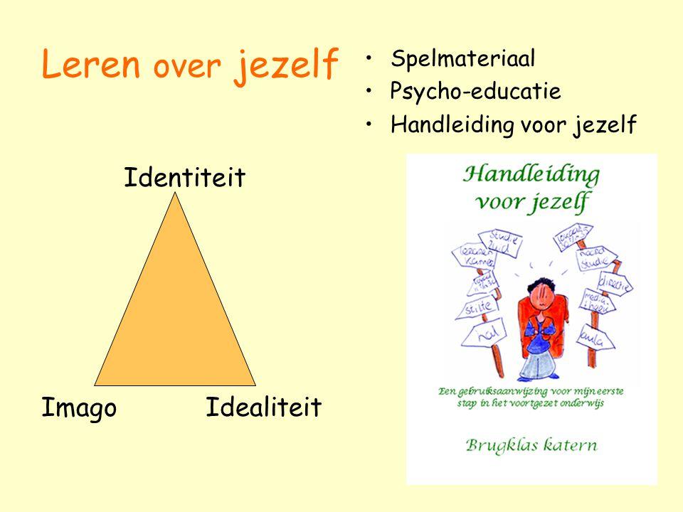 Leren over jezelf Identiteit Imago Idealiteit Spelmateriaal Psycho-educatie Handleiding voor jezelf