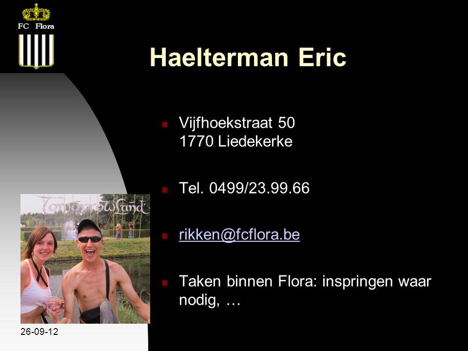 26-09-12 Haelterman Eric Vijfhoekstraat 50 1770 Liedekerke Tel.