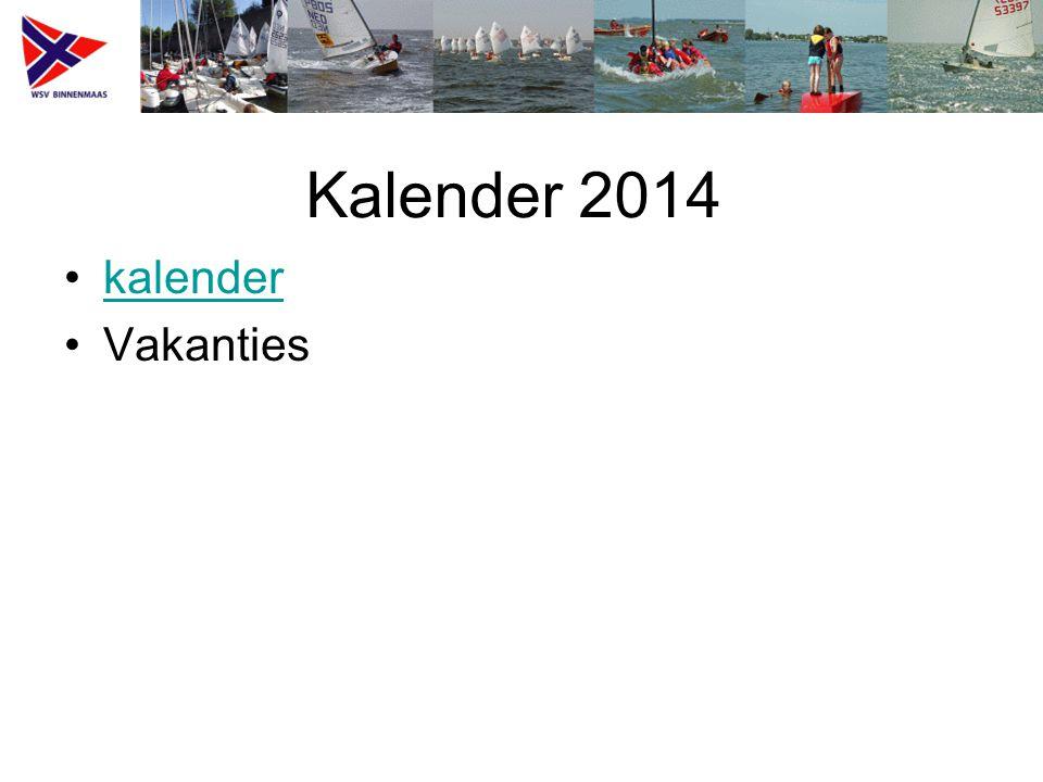 Kalender 2014 kalender Vakanties