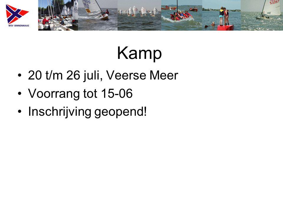 Kamp 20 t/m 26 juli, Veerse Meer Voorrang tot 15-06 Inschrijving geopend!