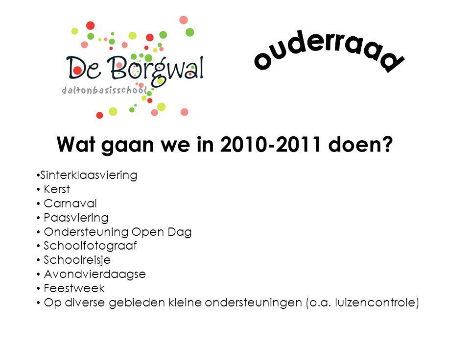 Wat gaan we in 2010-2011 doen.