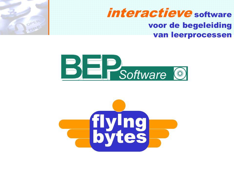 samenwerking fly ng bytes WIN WIN: eigentijdse portfolio aanvulling voor BEP Software door Flying Bytes (mobiele interactiviteit) marktbereik voor Flying Bytes' mobiele datadiensten door ervaring en klantenbase BEP Software prijs aan onderwijsinstellingen SMS-Communicator software, eenmalig€ 500,00 aansluiting SMS Gateway, per maand€ 145,00 per MT SMS bericht€ 0,09 PDA docent applicatie, hardware€ 600,00 PDA connectie BEP Software PM