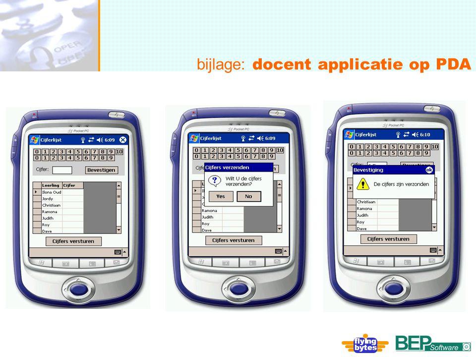 onafhankelijk, flexibel en deskundig bijlage: docent applicatie op PDA fly ng bytes