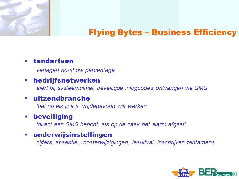 onafhankelijk, flexibel en deskundig Flying Bytes – Business Efficiency fly ng bytes tandartsen verlagen no-show percentage bedrijfsnetwerken alert bi