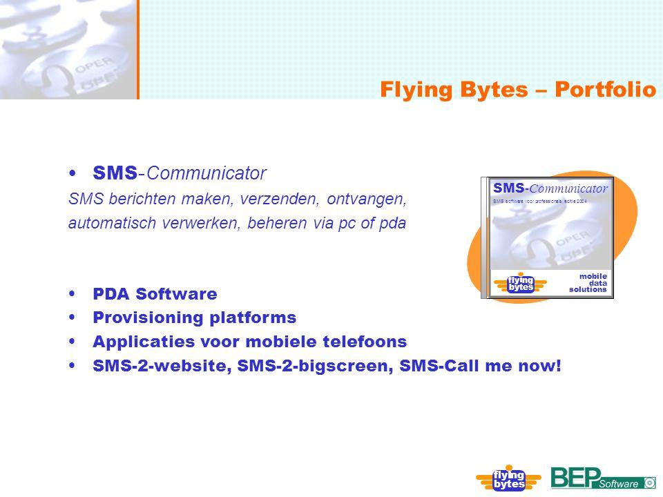 onafhankelijk, flexibel en deskundig Flying Bytes – Portfolio fly ng bytes SMS - Communicator SMS berichten maken, verzenden, ontvangen, automatisch v