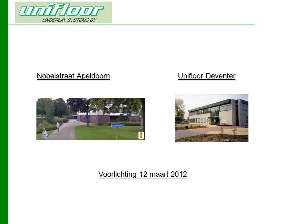 Nobelstraat Apeldoorn Unifloor Deventer Voorlichting 12 maart 2012