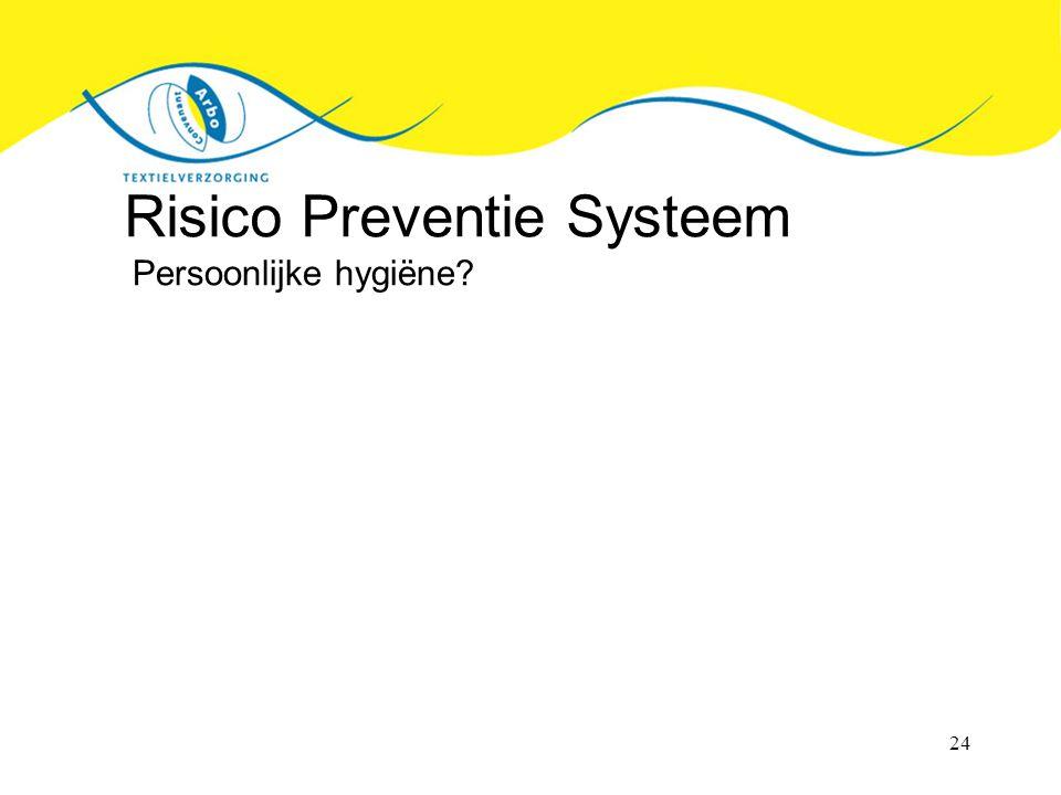 24 Risico Preventie Systeem Persoonlijke hygiëne?